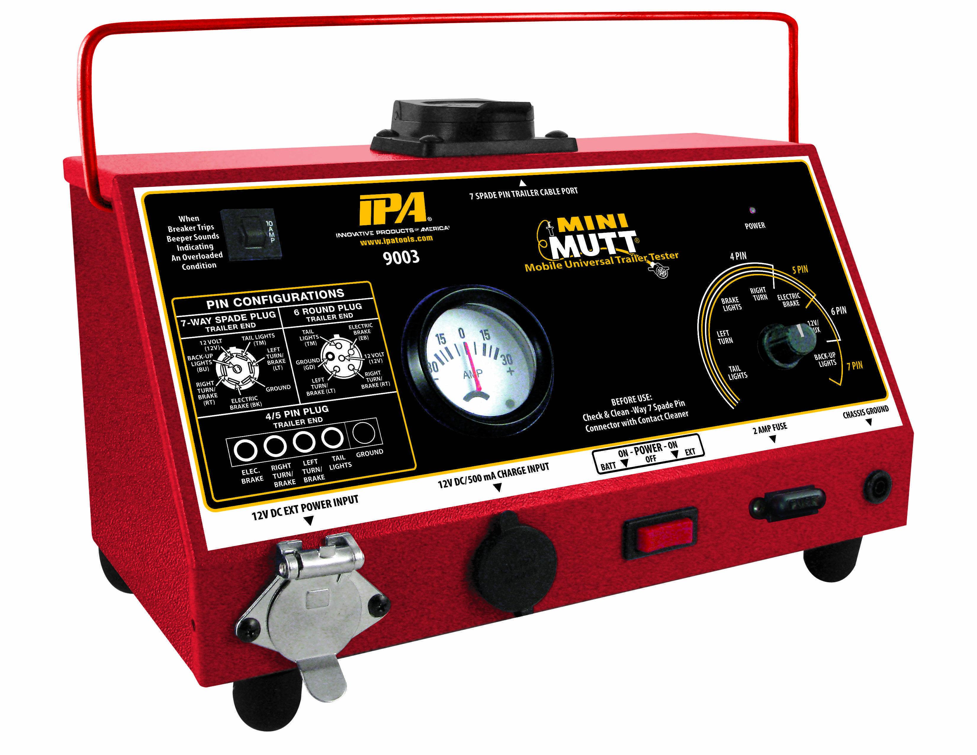 IPA debuts Mini-Mutt line of portable trailer testers