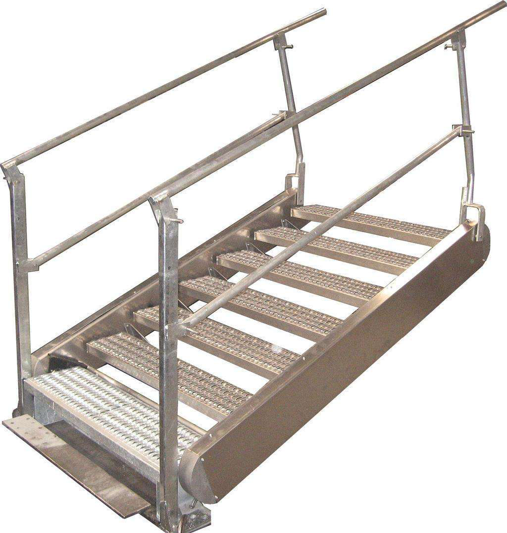 Self Leveling Stairs : Benko offers safety bridges in custom sizes