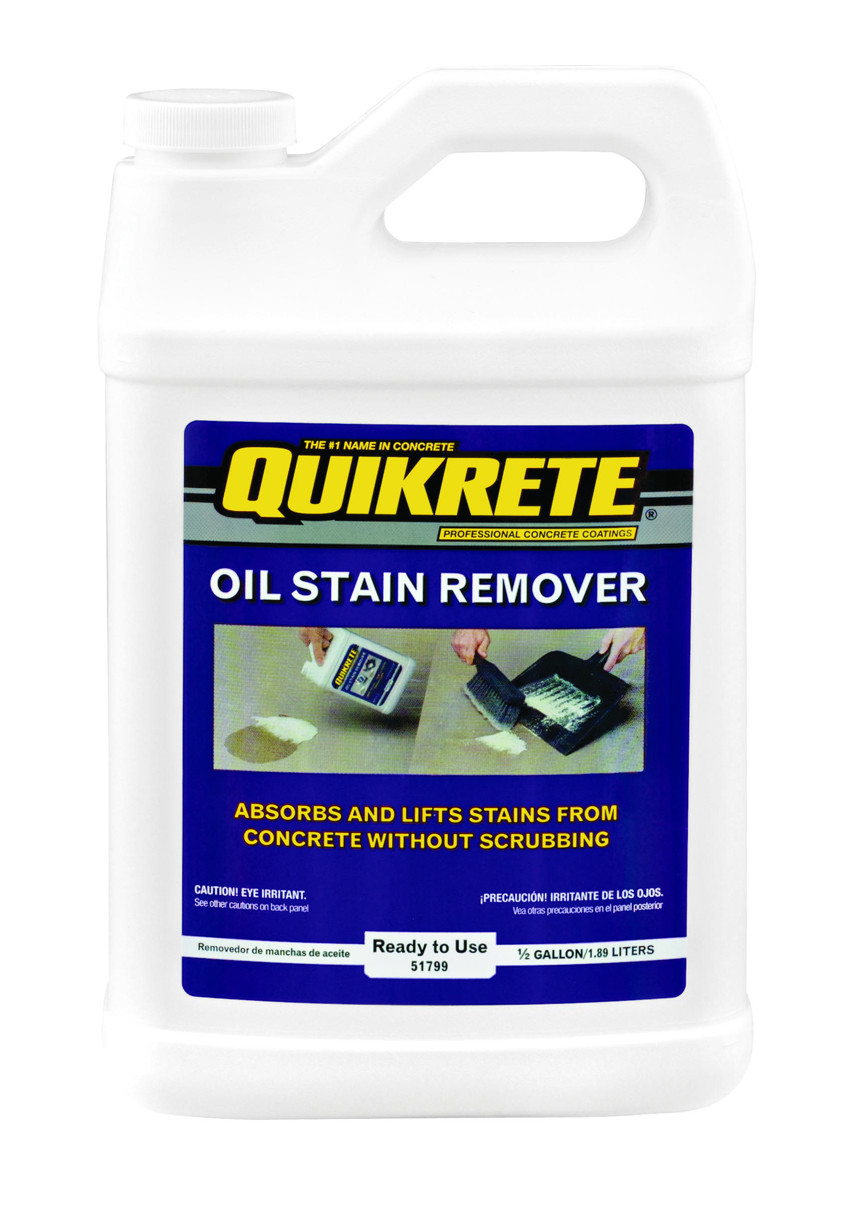 Oil stain remover keeps shop floors clean for Best degreaser for concrete