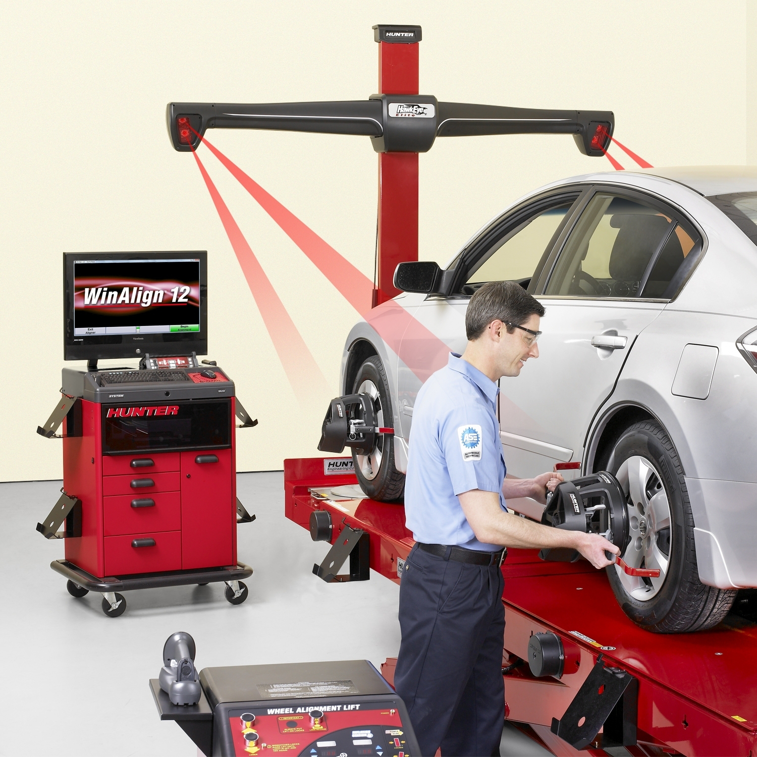How Much Is A Wheel Alignment >> Hunter introduces HawkEye Elite alignment system