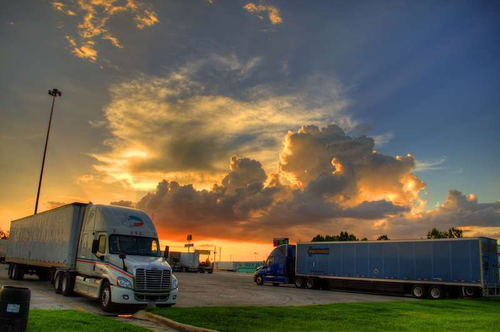hours of service truck stop