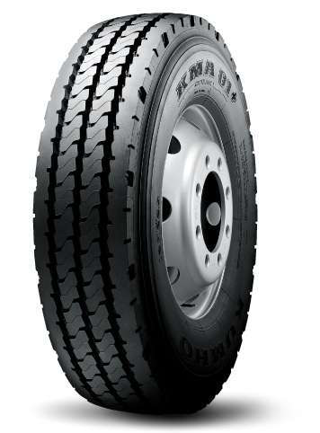 Kumho's KMA01 steer and trailer tire is designed with an advanced belt package that enhances casing integrity and uniformity for higher removal mileage and retread quality.