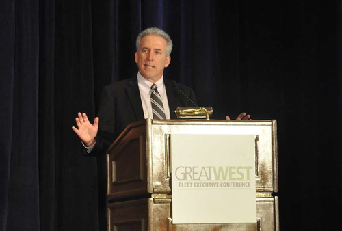 ATA Chairman Mike Card delivers a keynote address to the Great West Fleet Executive Conference Thursday, May 30.
