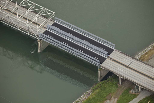 A rendering of the Interstate 5 bridge replacement span.