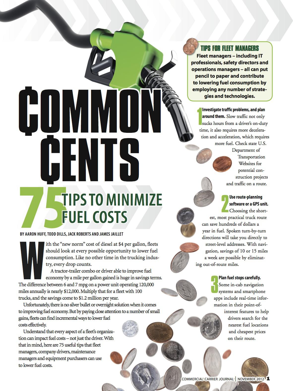 75 ways to cut your fleet's fuel costs