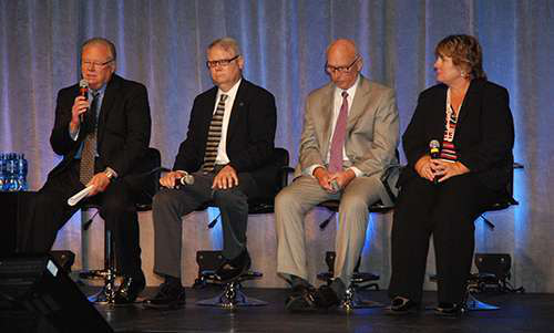 Panelists at the 2013 Commercial Vehicle Outlook Conference talk about the role safety technology will play in compliance, productivity and profitability over the next decade.