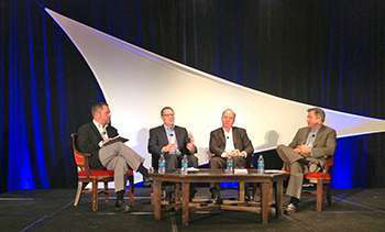 CCJ editor Jeff Crissey interviews a panel of fleet executives at the 2013 CCJ Fall Symposium.