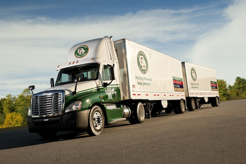 The current 28-foot minimum for double trailers will not be changed by the FAST Act highway bill.