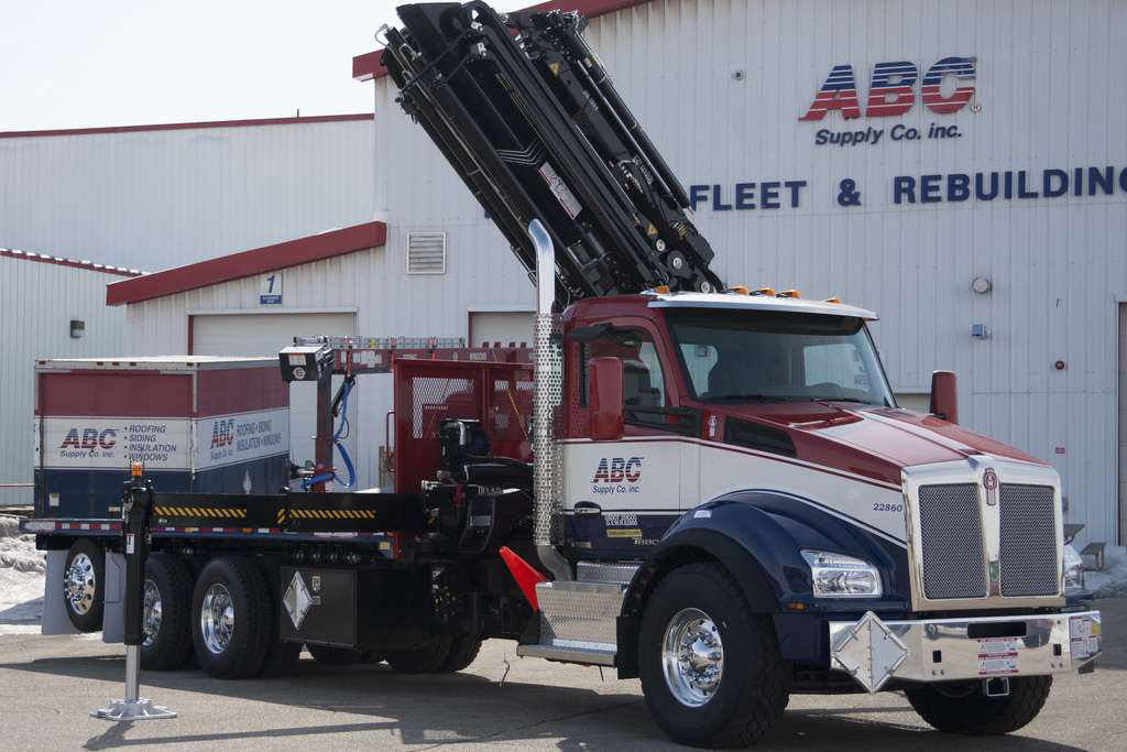 Marvelous ABC Supply In Beloit, Wis., Takes Delivery Of First Production Kenworth T880