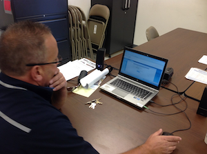 Jack Malloy monitors risky driving behaviors captured by the fleet's event recorder system.
