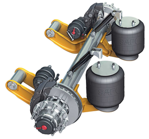 SAF-Holland releases integrated yoke mount air suspension axle