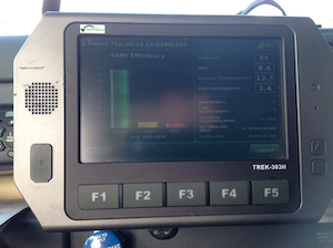 The Vnomics performance system shows drivers a shift efficiency score at the end of each trip