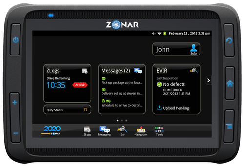 Zonar's Android-powered tablet