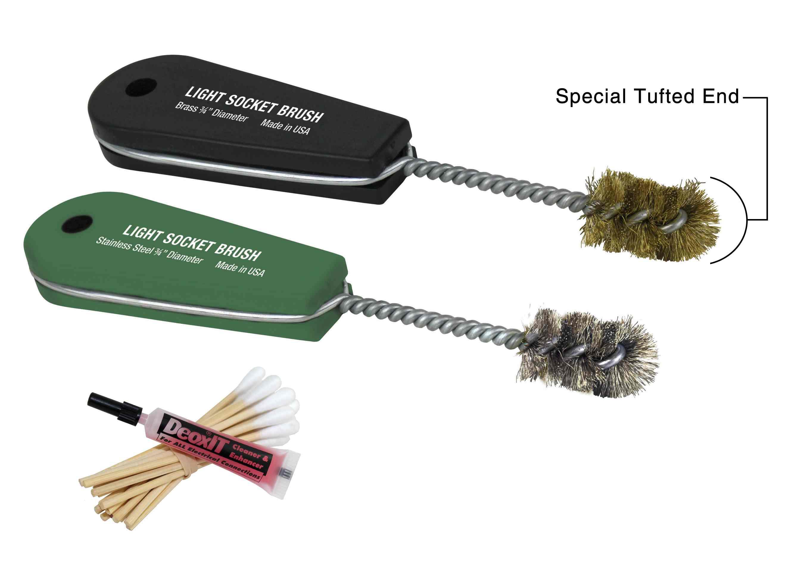 IPA Tools Light Socket Brush Set