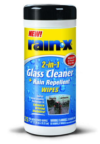Rain-X 2-in-1 Glass Cleaner and Rain Repellent Wipes