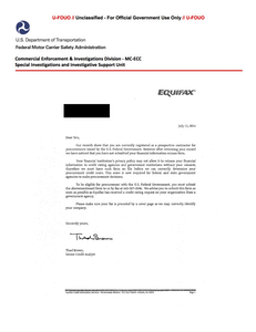 Click here to see a copy of the fraudulent letter.