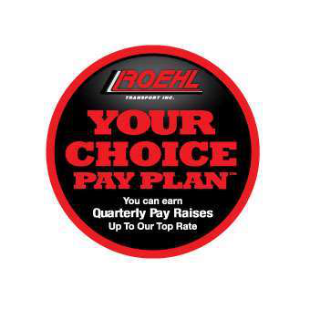 Roehl Transport Your Choice pay plan allows drivers to earn points for good performance, while they are deducted points in categories for missed appointments and incurring preventable costs.