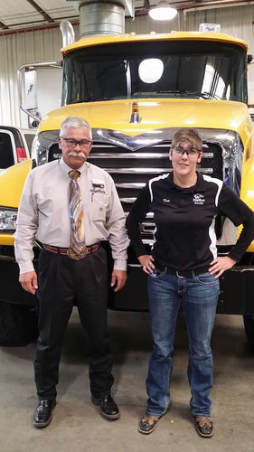 Guy Warpness, president of WyoTech Laramie and one of Kate Dell's mentors during her diesel training, says Dell represents the future of heavy-duty truck technicians