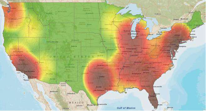 Cargo Theft Prevention Firm Issues Truck Stop Pilferage Warning - Map of truck stops in us