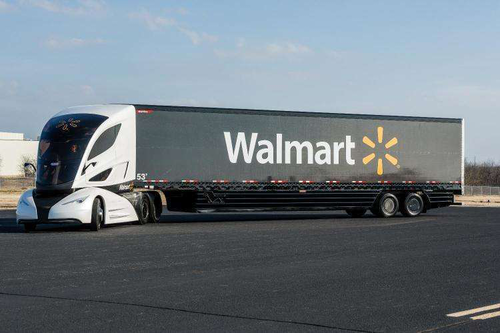 At the Mid-America Trucking Show earlier this year, Walmart unveiled a new concept truck that features a teardrop-shaped body and fuel-neutral turbine engine that can run on diesel, gasoline, natural gas, biofuels and other sources.
