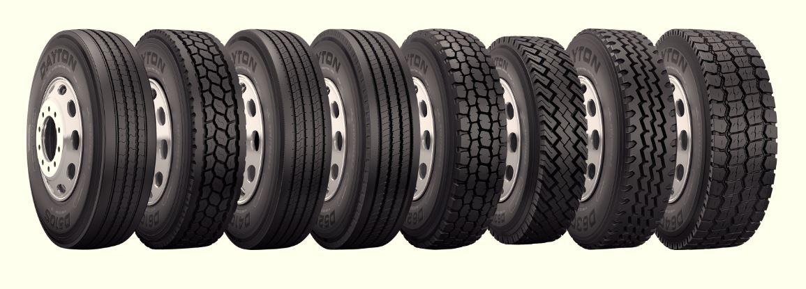 Dayton Truck Tires lineup
