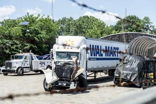 Roper's truck following the crash.