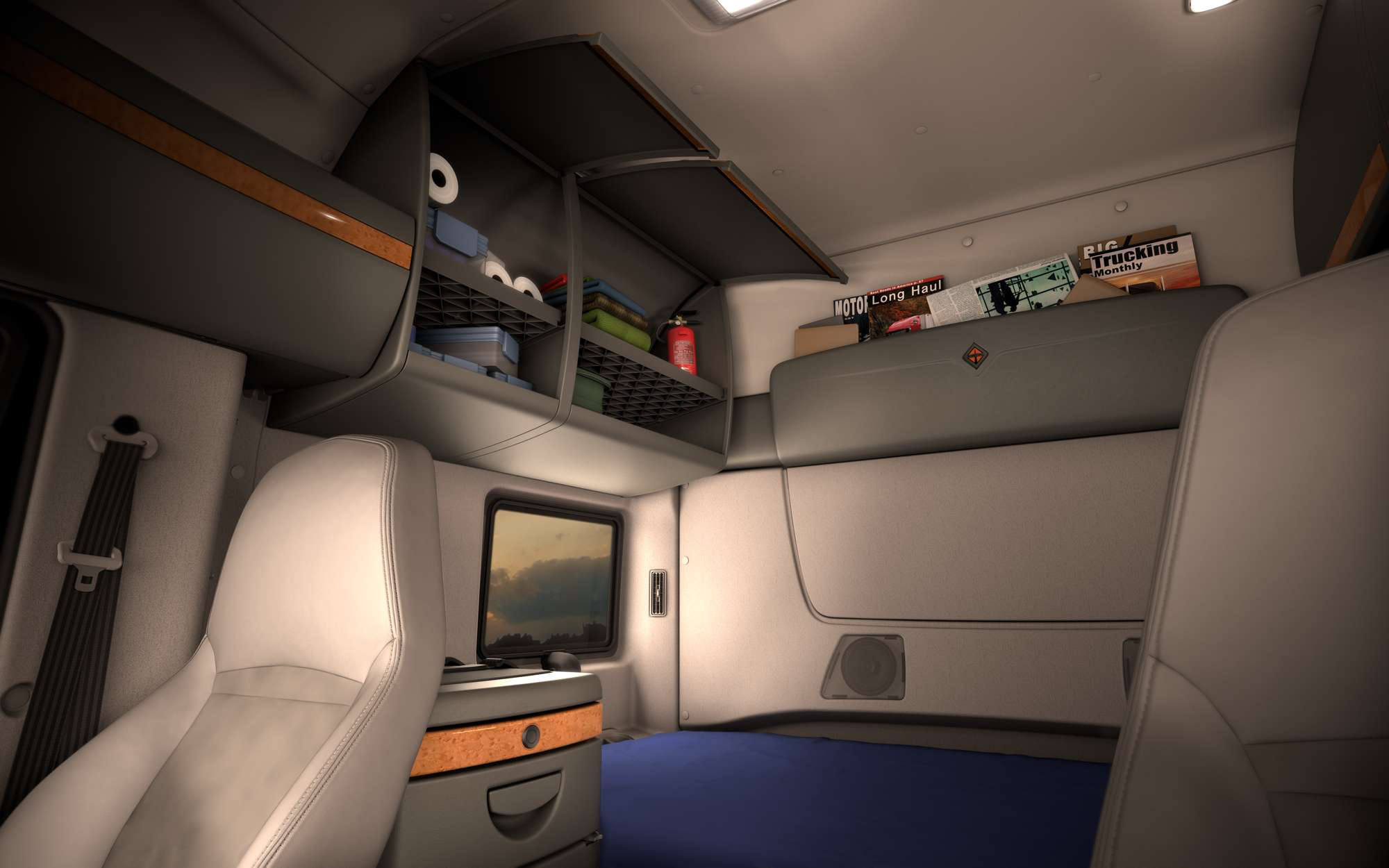 Semi Truck Interior Sleeper