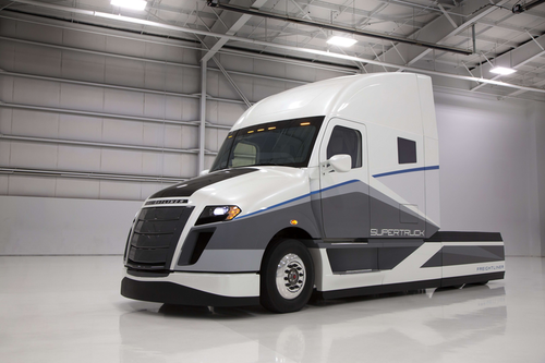 The tractor portion of Freightliner's 2015-unveiled SuperTruck.