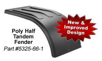 Fleetline Half-Tandem Poly Fender