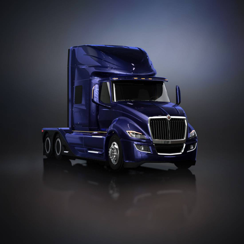 Among the most striking features on the ultra-aero International ProStar are chassis skirts that fully cover the drag wheels.