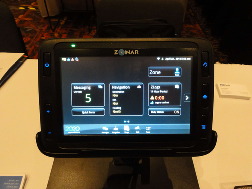 Drivers use Zonar's Android-powered tablet to conduct pre- and post-trip inspections.