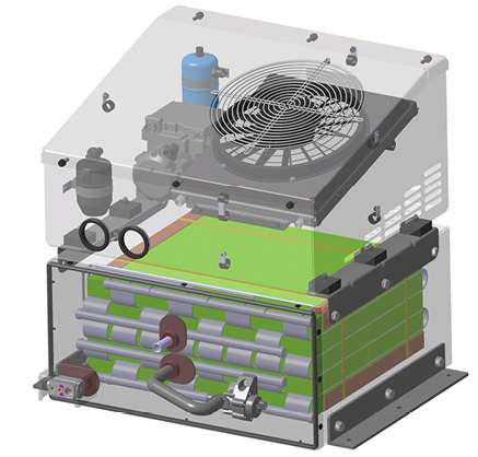 Webasto Polar Cab TS engine-off cabin cooling system