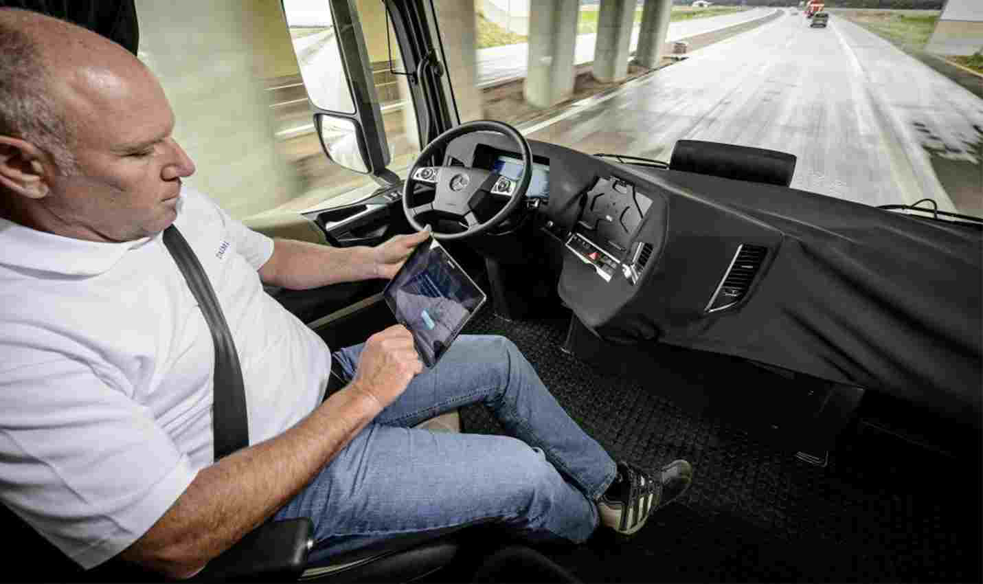 Trucking's Future Now - Driver in Autonomous Truck
