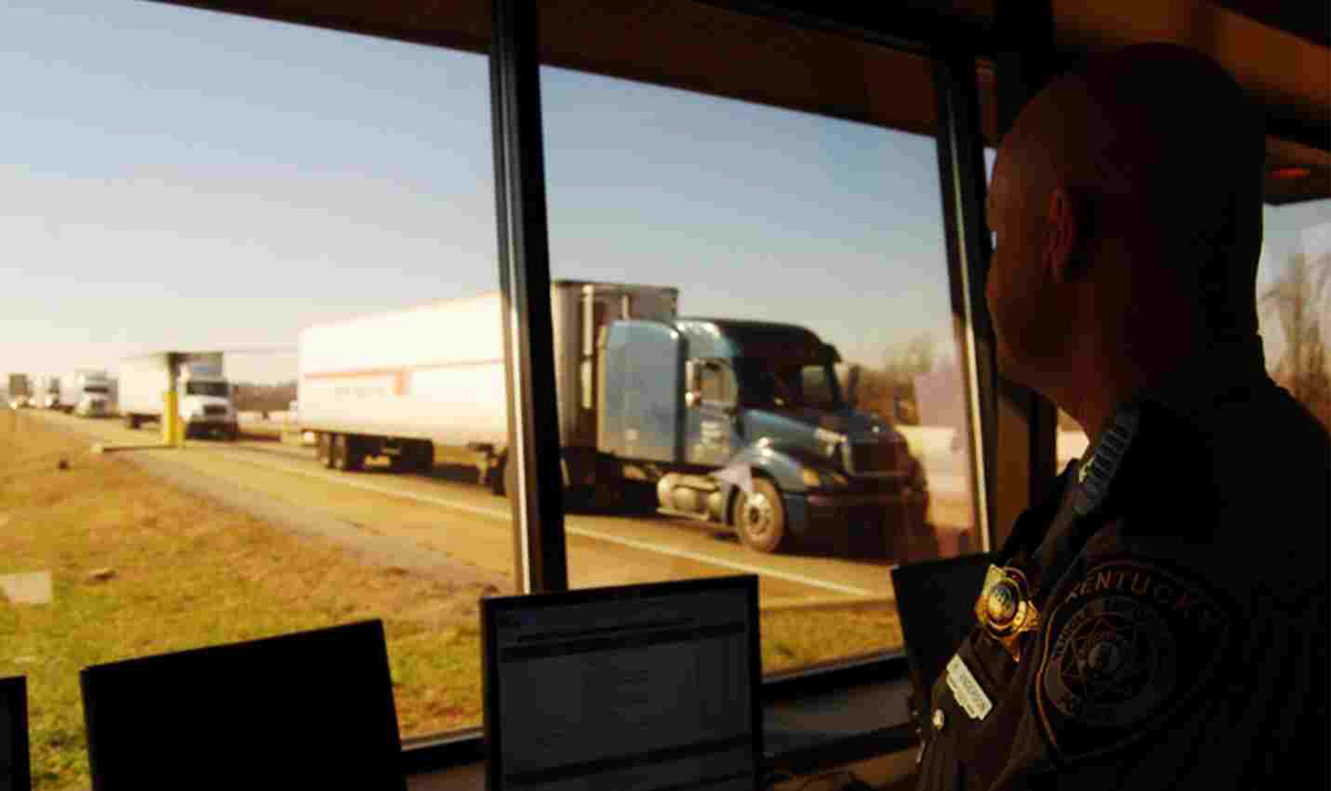 Trucking's Future Now - Infrastructure - Inspections on Computer
