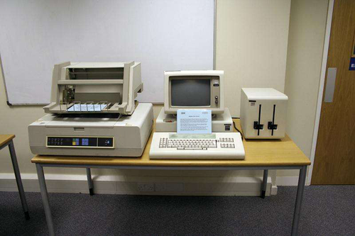 The IBM Displaywriter as it appeared in 1983.