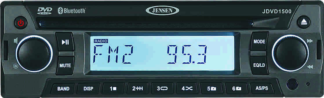 ASA Jensen JDVD1500 single DIN Bluetooth DVD player