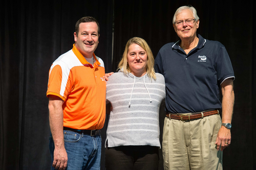 2015 Excellence in Bendix Leadership Award winners (left to right) Mike Grandstaff, Angie Hake, and Bill Gantz.