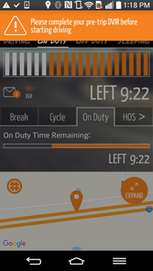 Gorilla Safety's fleet management system is available for iOS and Android devices