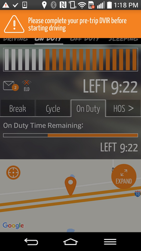 Gorilla Safety's electronic logging device is currently available for Android devices, with an iOS version in the works.
