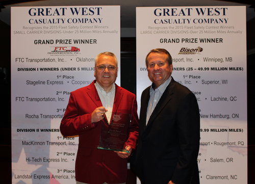 Bison Transport's Garth Pitzel wins TCA Safety Professional of the Year Award