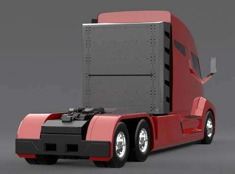 This Nikola One Model Is Spec D With A 150 Natural Gas Tank Behind The Cab