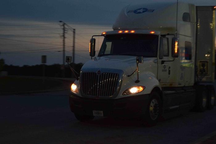 truckstop truck stop hours of service evening parking hos fuel island20160526_0073