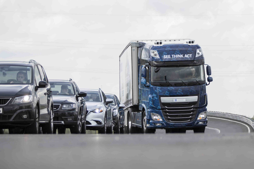 ZF, WABCO unveil collision avoidance system that autonomously steers trucks around stopped vehicles