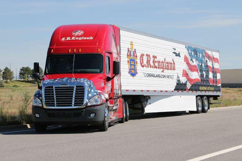 C.R. England semi truck