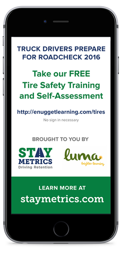 Click here to access the online training module on tire safety from Stay Metrics and Luma