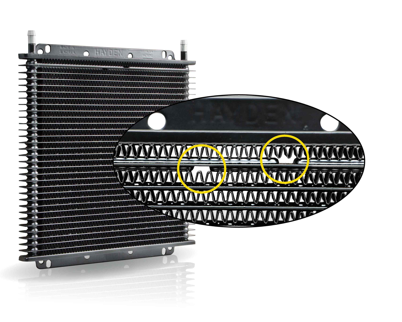 Hayden Automotive internal pressure by-pass cooler