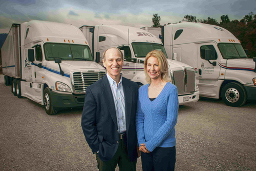 David and Jacquelin Parker founded Covenant Transport in 1986 with 25 trucks. Photo courtesy of CTG.