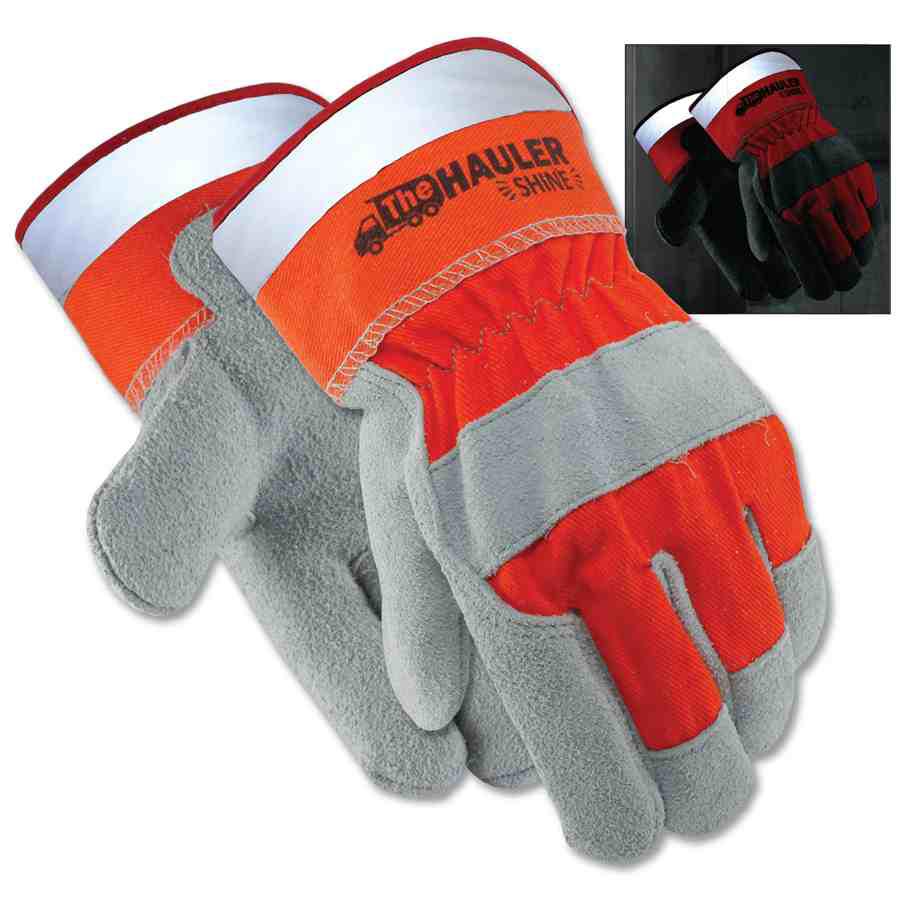 Galeton Hauler Shine Leather Palm Safety Gloves