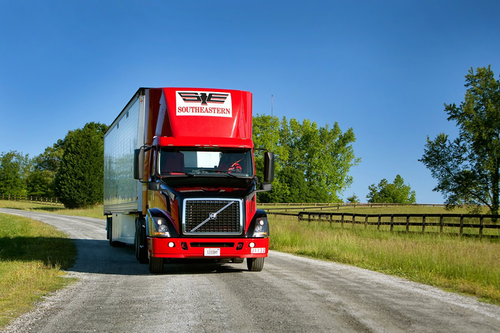 Southeastern Freight Lines is able to predict an arrival time to within an hour for all deliveries on a truck.