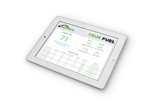 Vnomics calculates a daily score for drivers that shows how they performed compared to their potential.